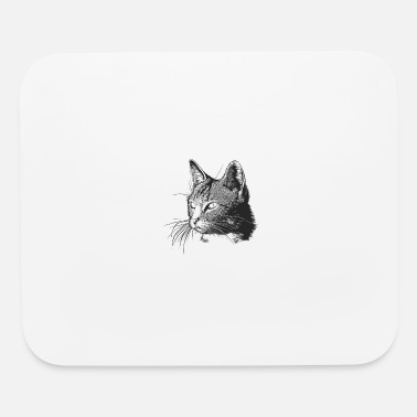 Hand Drawn cat hand-drawn - Mouse Pad