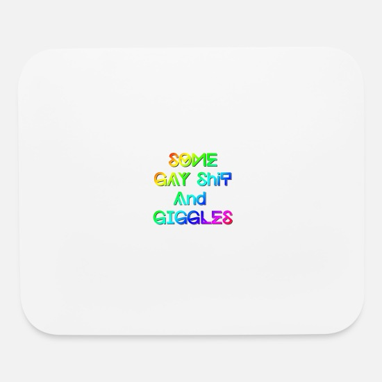 Unicorn Mouse Pads - some gay shit and giggles rainbow - Mouse Pad white
