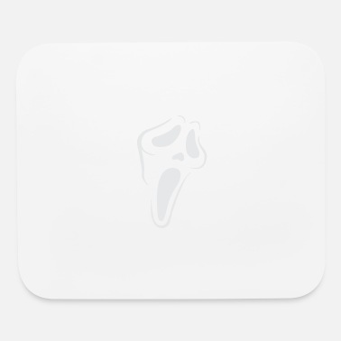 Ghost scream ghost face pumpkin stencil - Mouse Pad