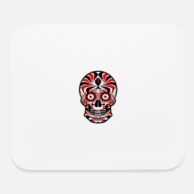 Sugar Skull of Death. Tribal Skull. Tribals Tattoo - Mouse Pad