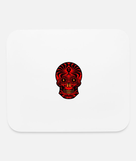 New Zealand Mouse Pads - Tribal Skull Black Red Tribal Skull Tribal Tattoo - Mouse Pad white