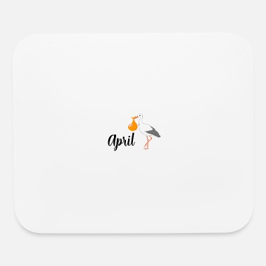 Pregnant pregnant stork baby coming April - Mouse Pad