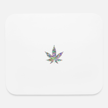 Trippy Weed Cannabis Weed Marijuana Trippy Present - Mouse Pad