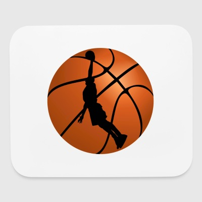 Basketball Player Silhouette - Mouse pad Horizontal