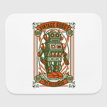 Vintage Toy Robot - Mouse pad Horizontal