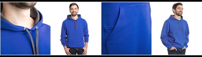 Unisex Contrast Hoodie