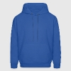 Royal blue daggy glasses nerd Hoodies - Men's Hoodie