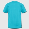 Turquoise I heart pixel love Men - Men's T-Shirt by American Apparel