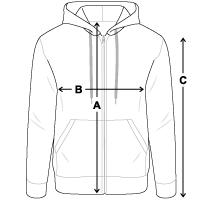Men's Zip Hoodie | Gildan 18600
