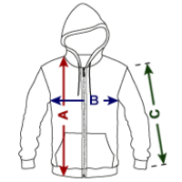 Unisex Fleece Zip Hoodie | American Apparel F497W