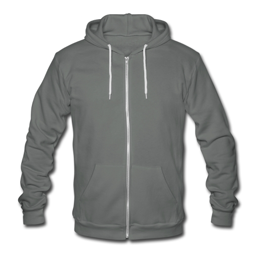 website on back - Unisex Fleece Zip Hoodie by American Apparel