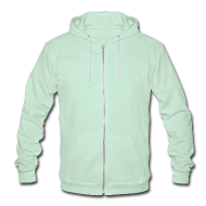 Zip Hoodies & Jackets ~ Unisex Fleece Zip Hoodie by American Apparel ~ website on back