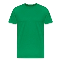 Kiss Me I'm Irish txt & shamrock st.patrick's day- Men's Premium T-Shirt
