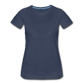 Two Blue Hummingbirds Oval Women's Premium T-Shirt