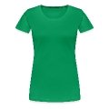 I heart green beer  Irish girl shamrock -2 Women's Premium T-Shirt