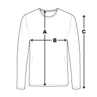 Size chart - Men's Premium Long Sleeve T-Shirt
