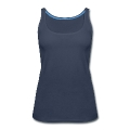 Two Blue Hummingbirds Oval Women's Premium Tank Top