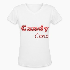 Candy cane women t-shirt