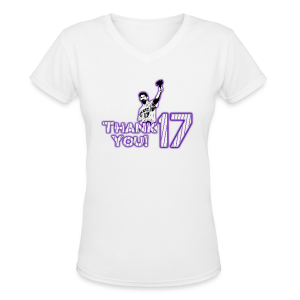 Thank You 17 - Ladies - V-Neck - Women's V-Neck T-Shirt