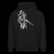 Hoodies ~ Men's Hoodie ~ Dres (White) - Sweatshirt
