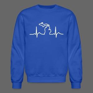 Michigan Heart Beat - Crewneck Sweatshirt