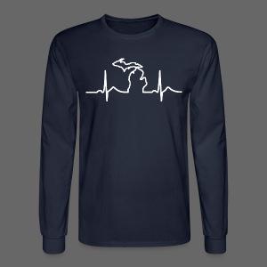 Michigan Heart Beat - Men's Long Sleeve T-Shirt