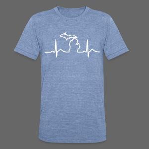 Michigan Heart Beat - Unisex Tri-Blend T-Shirt
