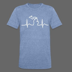 Michigan Heart Beat - Unisex Tri-Blend T-Shirt by American Apparel