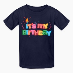 It's My Birthday Letters Kids' Shirts