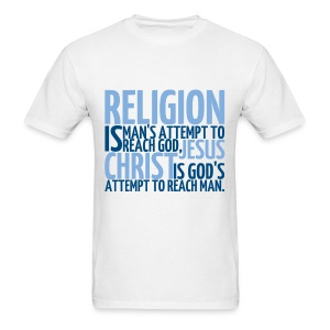 Men's ReligionVsJesus T-shirt/White - Men's T-Shirt