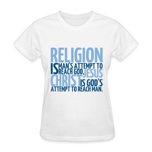Women's ReligionVsJesus T-shirt/White - Women's T-Shirt