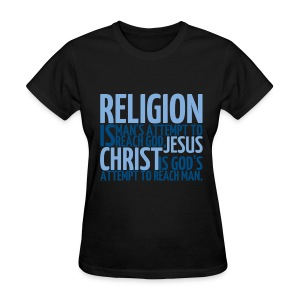 Women's ReligionVsJesus T-shirt/Black - Women's T-Shirt