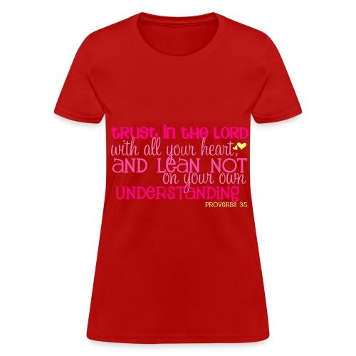 Women's Proverbs 3:5 T-shirt/Red - Women's T-Shirt