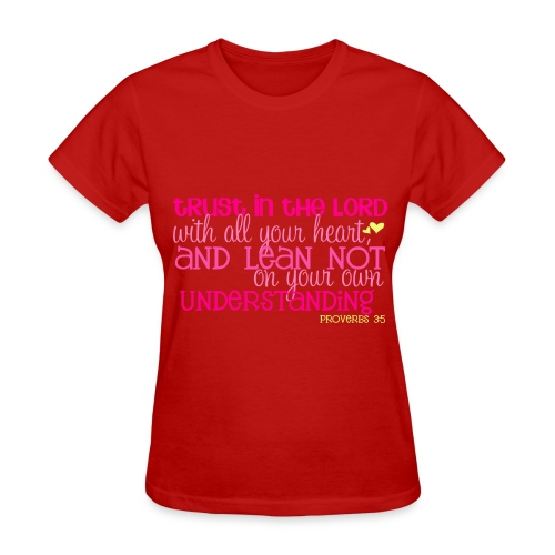 Women's Proverbs 3:5 T-shirt/Red - Women's T-Shirt