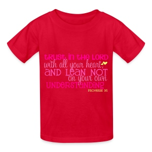 Kid's Proverbs 3:5 T-shirt/Red - Kids' T-Shirt