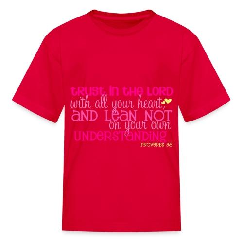 Kid's Proverbs 3:5 T-shirt/Red - Kids' T-Shirt