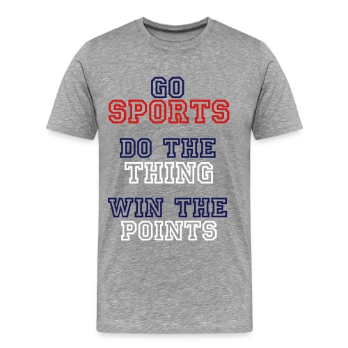 GO SPORTS! - Men's Premium T-Shirt
