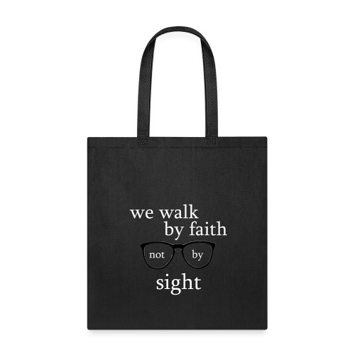 Walk By Faith Tote Bag/Black - Tote Bag