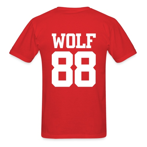 Wolf 88 (Red) - Men's T-Shirt