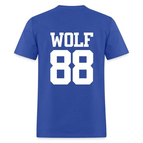 Wolf 88 (Blue) - Men's T-Shirt