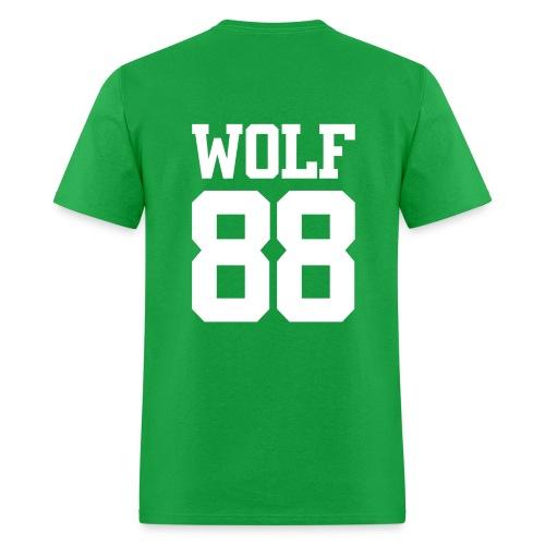 Wolf 88 (Green) - Men's T-Shirt