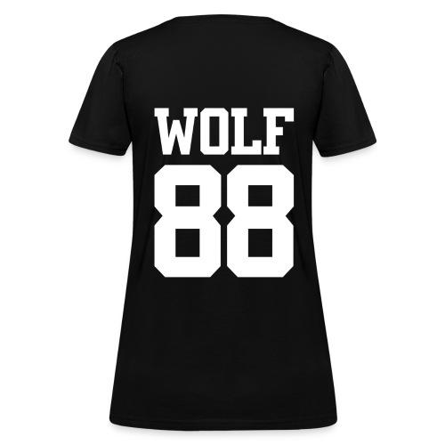 Wolf 88 (Black) - Women's T-Shirt