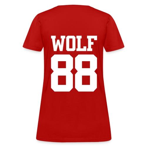 Wolf 88 (Red) - Women's T-Shirt