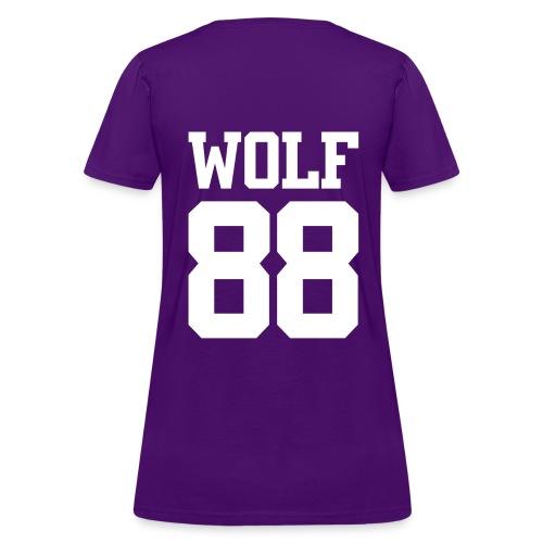 Wolf 88 (Purple) - Women's T-Shirt