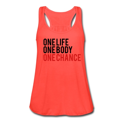 One Life - Women's Flowy Tank Top by Bella