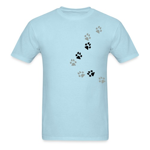 Paw Prints from side - Men's T-Shirt
