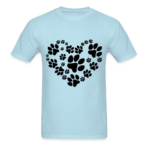 Heart of Paws - Men's T-Shirt