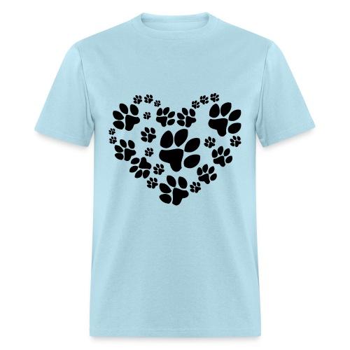 Heart of Paws - Men's T-Shirt