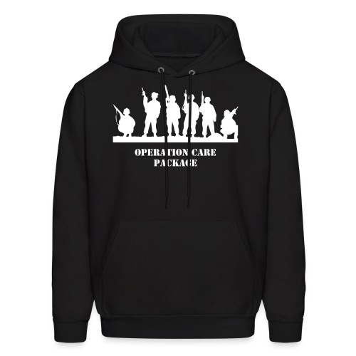 Men's Hoodie - 100% of proceeds for this product will go to care package funds for the United States Military.