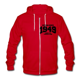 1949 - Unisex Fleece Zip Hoodie by American Apparel